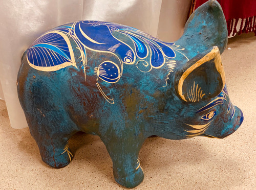 Clay Hand Painted Pig