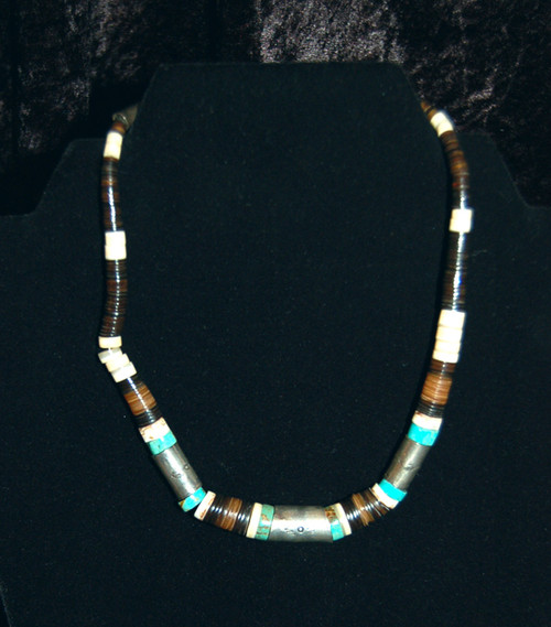 Southwestern Chocker Sterling Silver with Turquoise and various Beads