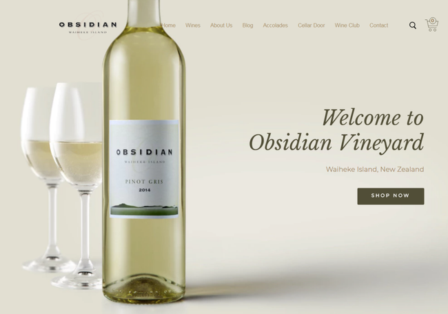 What's Happening: Obsidian's New Website and Vineyard Update
