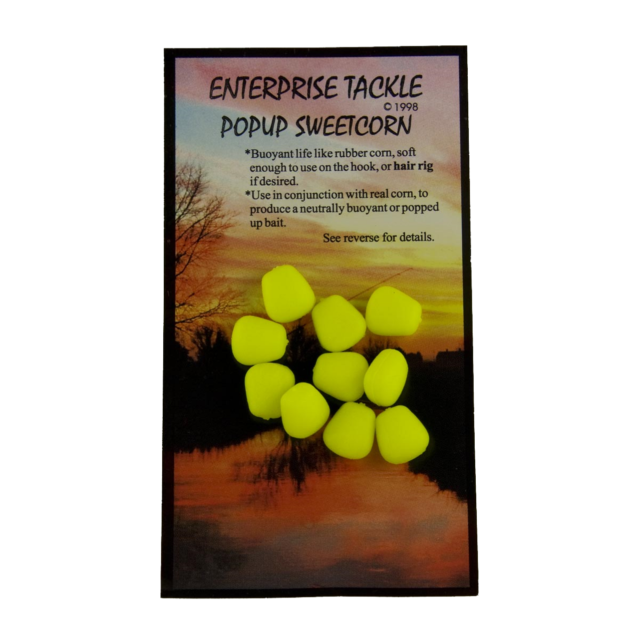 Enterprise Tackle Pop-Up Sweetcorn Yellow Imitation Bait 10 in Pack