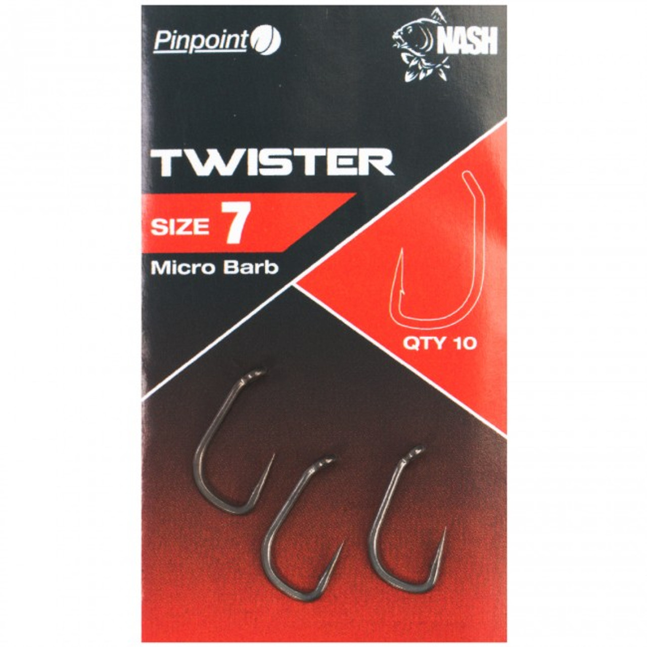 New Nash Fang Uni Micro Barbed Hooks Carp Fishing Pack of 10 All Sizes