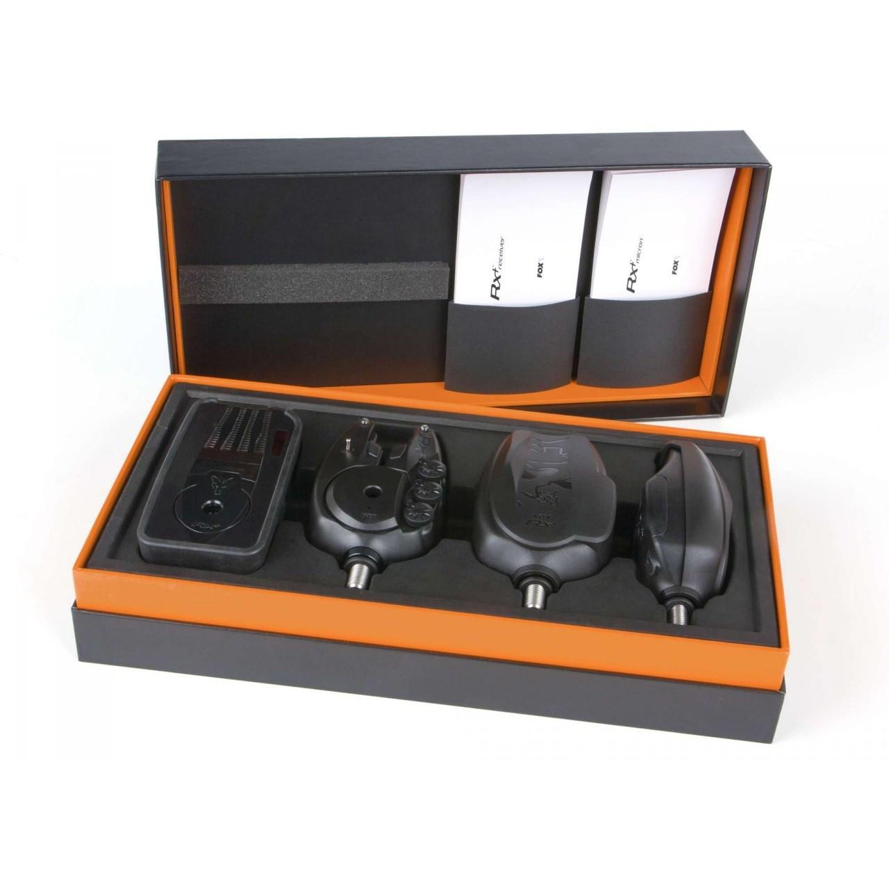 Fox Micron RX+ Bite Alarm 3 Rod Set