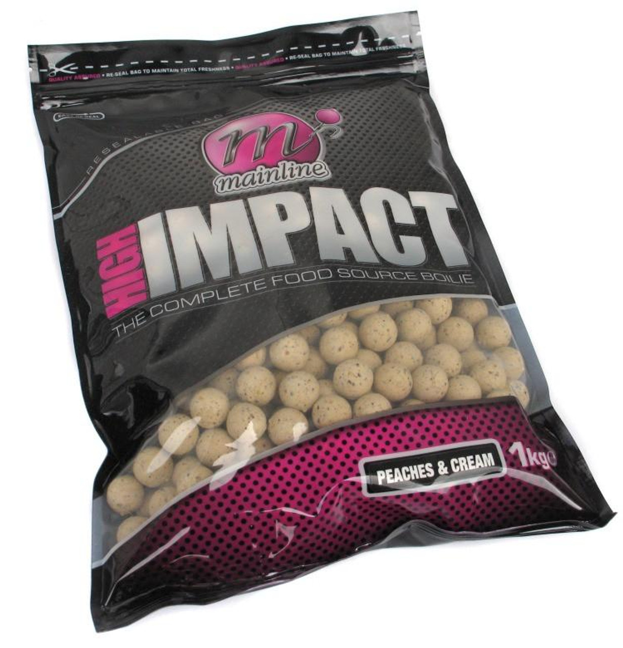 Mainline High Impact Peaches & Cream Boilies 1kg