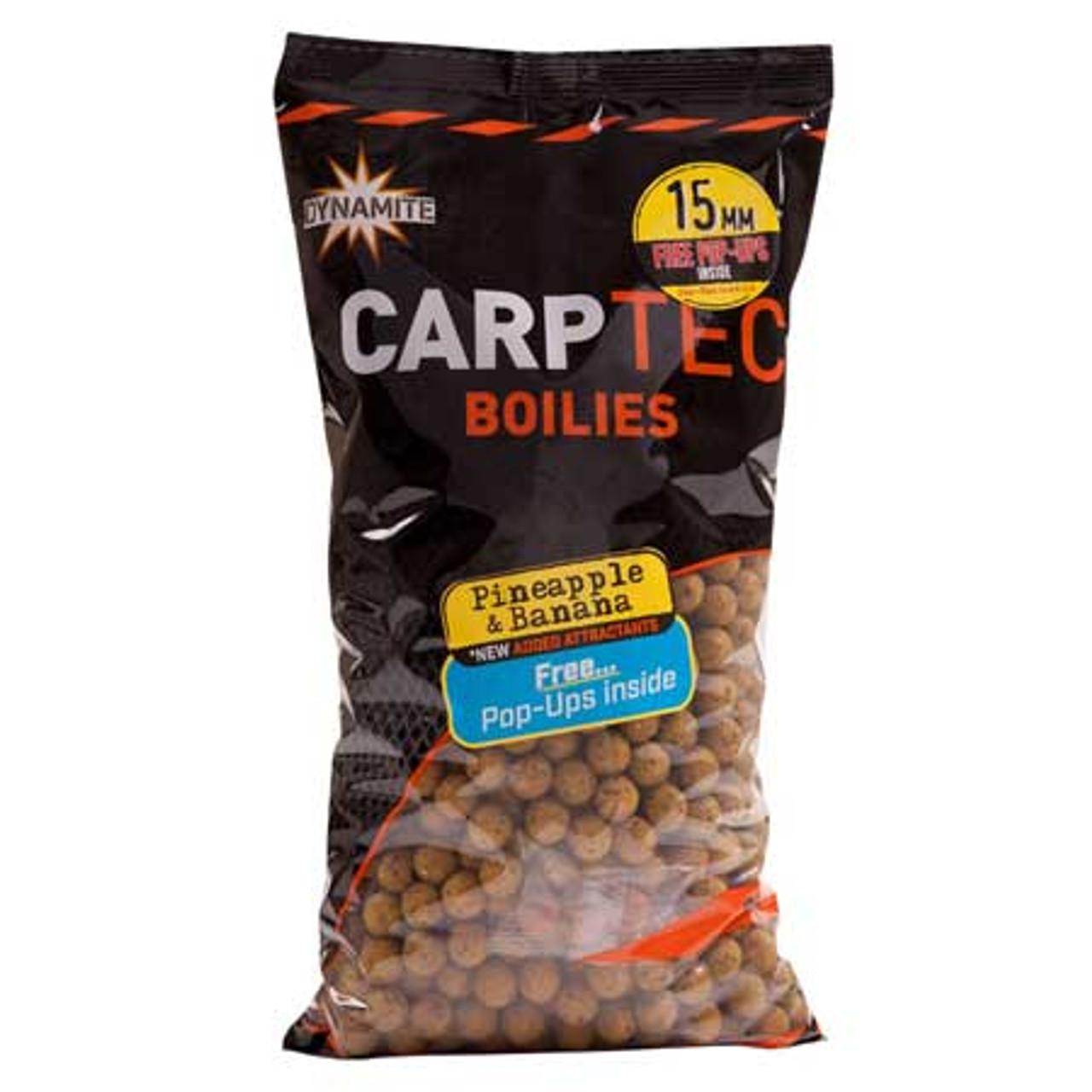 Dynamite Baits Carptec 2kg Pineapple & Banana Boilies + Free Pop Ups
