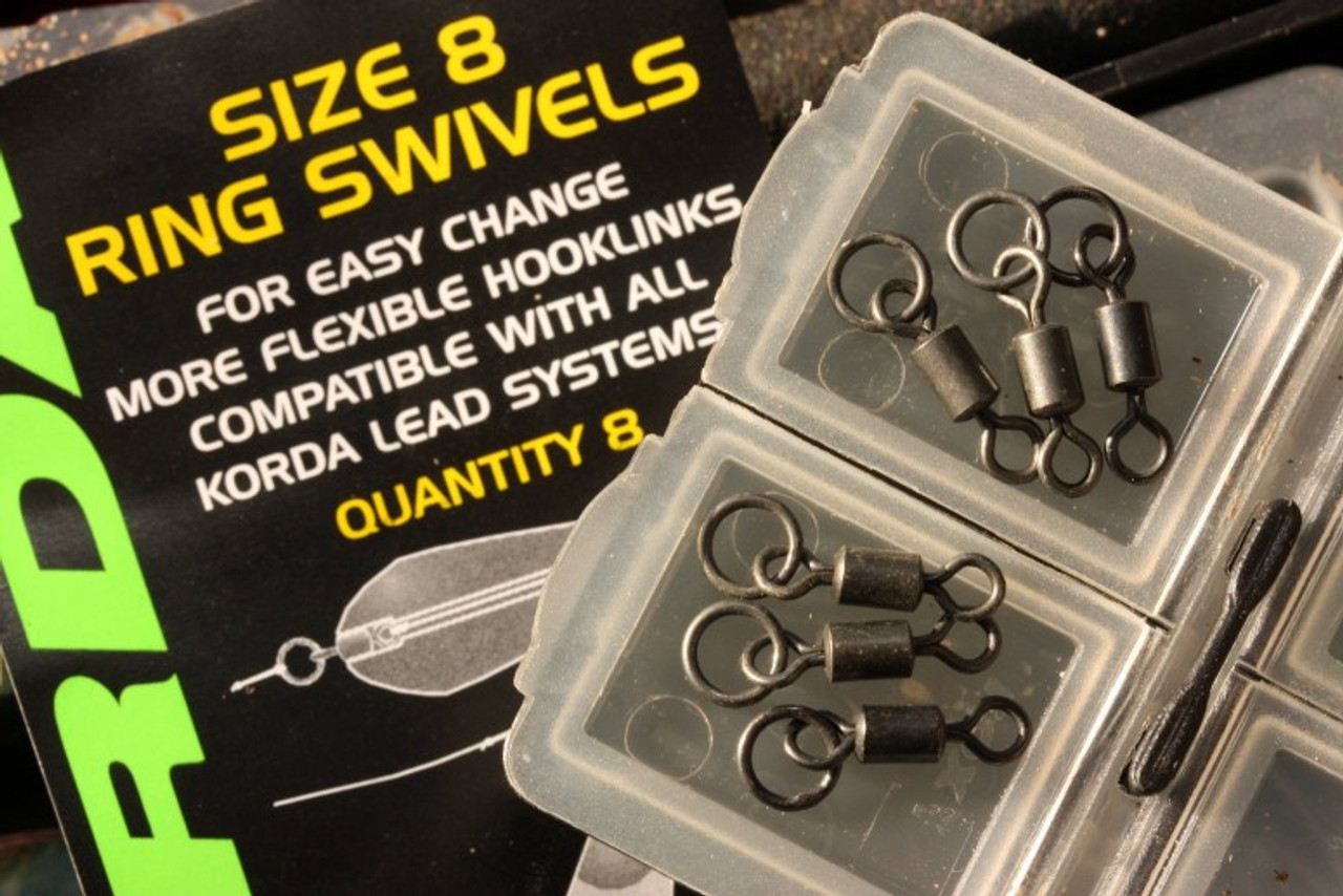 Pack of 20 Korda Size 8 Swivels