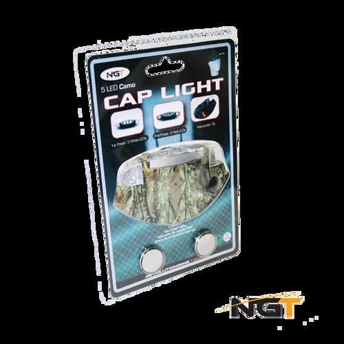 NGT 5 Light Camo LED Deluxe Cap Light (2 Red LEDS, 3 White)