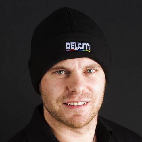 Delkim Logo Fleece Hat Black