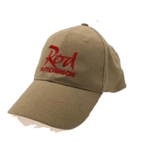 Rod Hutchinson Baseball Cap Sand with Red Emborodery