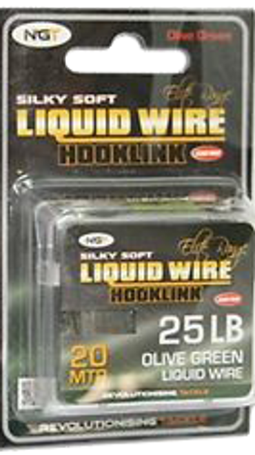NGT Liquid Wire Hooklink - 20m 25lb B.S