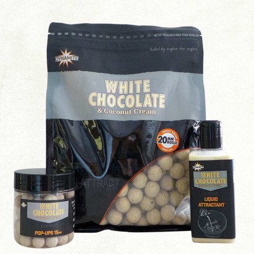 Dynamite Baits White Chocolate & Coconut Cream Boilies - 1Kg