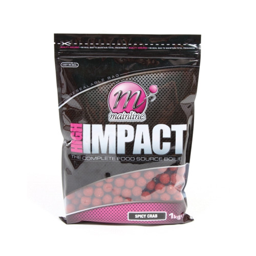 Mainline High Impact Spicy Crab Boilies 1kg