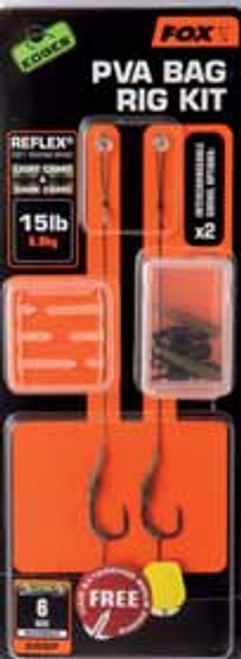 Fox EDGES™ Size 8 PVA Bag Rig Kit