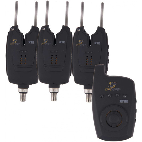 Carp Spirit XTE Set of 3 Alarms & XTRE Receiver
