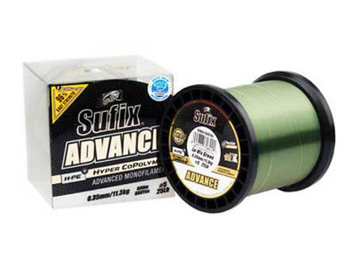 Sufix Advance Hyper Copolymer Lo-Vis Green 18lb 600m Spool