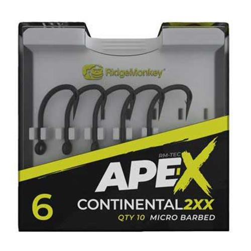 RidgeMonkey Ape-X Continental 2XX Hooks