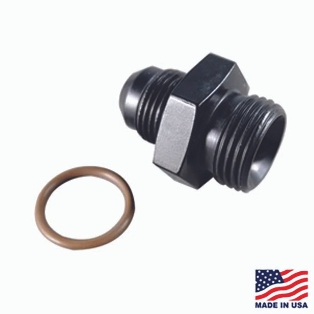 Fragola 495103-BL - #8 x 3/4-16 (#8) Radius O-Ring Fitting Black (FRG495103-BL)