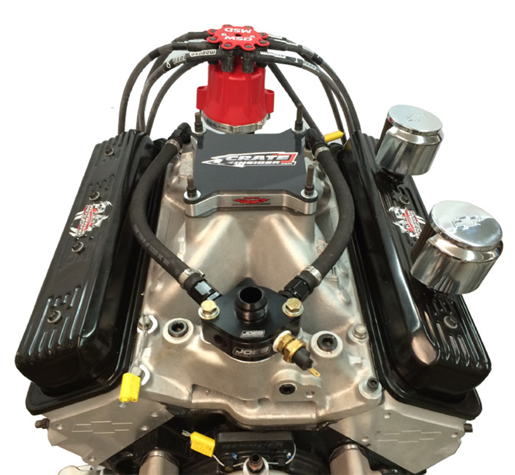 GM604 by Hendren Racing Engines, shown with distributor, water lines and plug wires