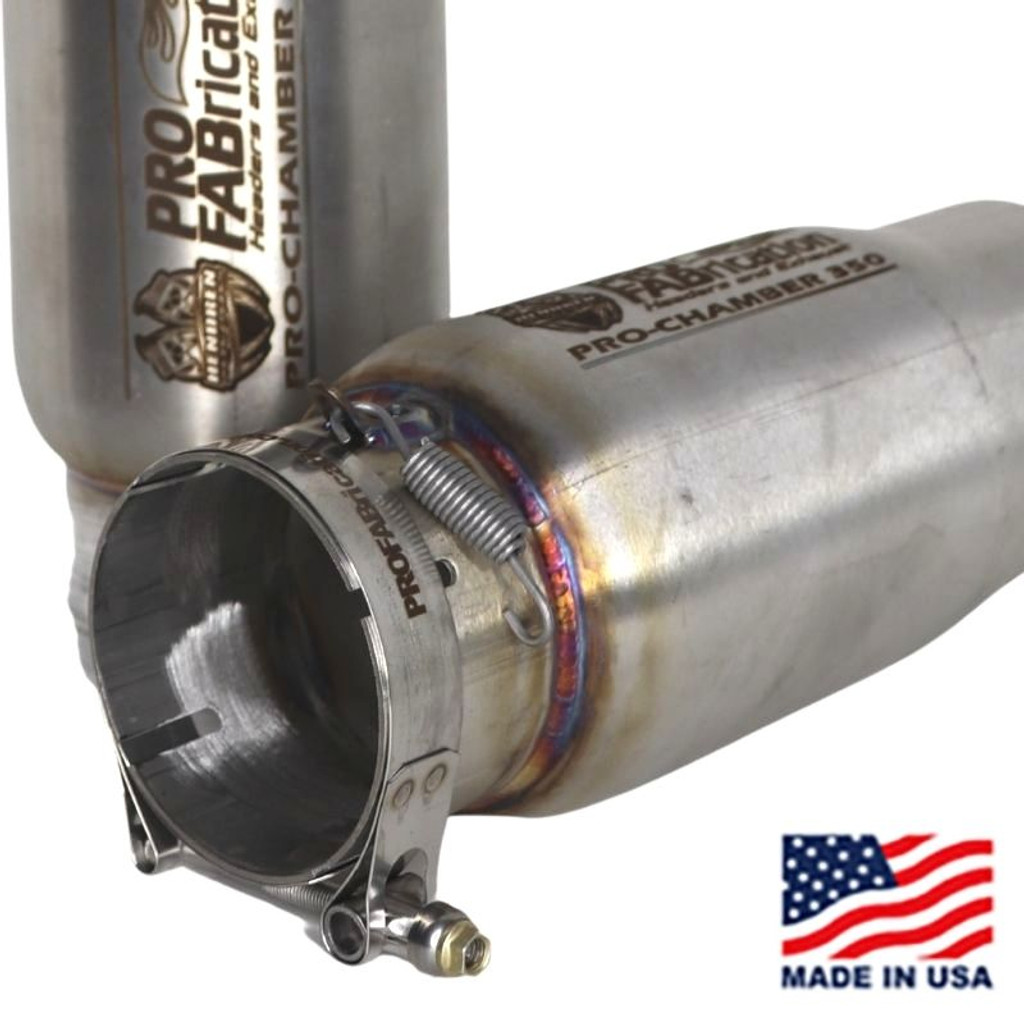 ProFab Stainless Steel Muffler (priced per each) (PF-PRO-CHAMBER-350)