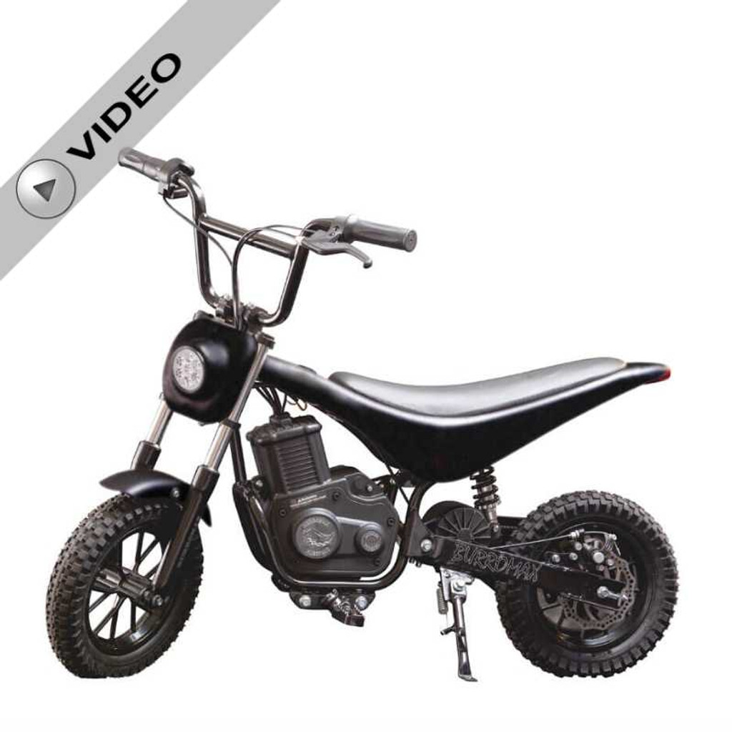 Electric Mini bike, TT350R Lithium Ion Powered, (Color: Matte Black Carbon Fiber)