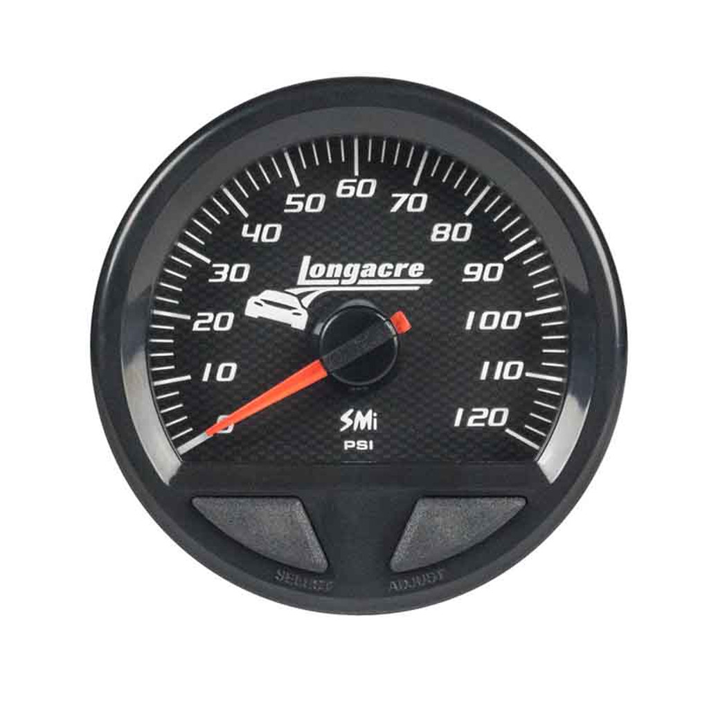 Longacre Waterproof Gauges, Oil Pressure 0-120 psi, Sensor Included