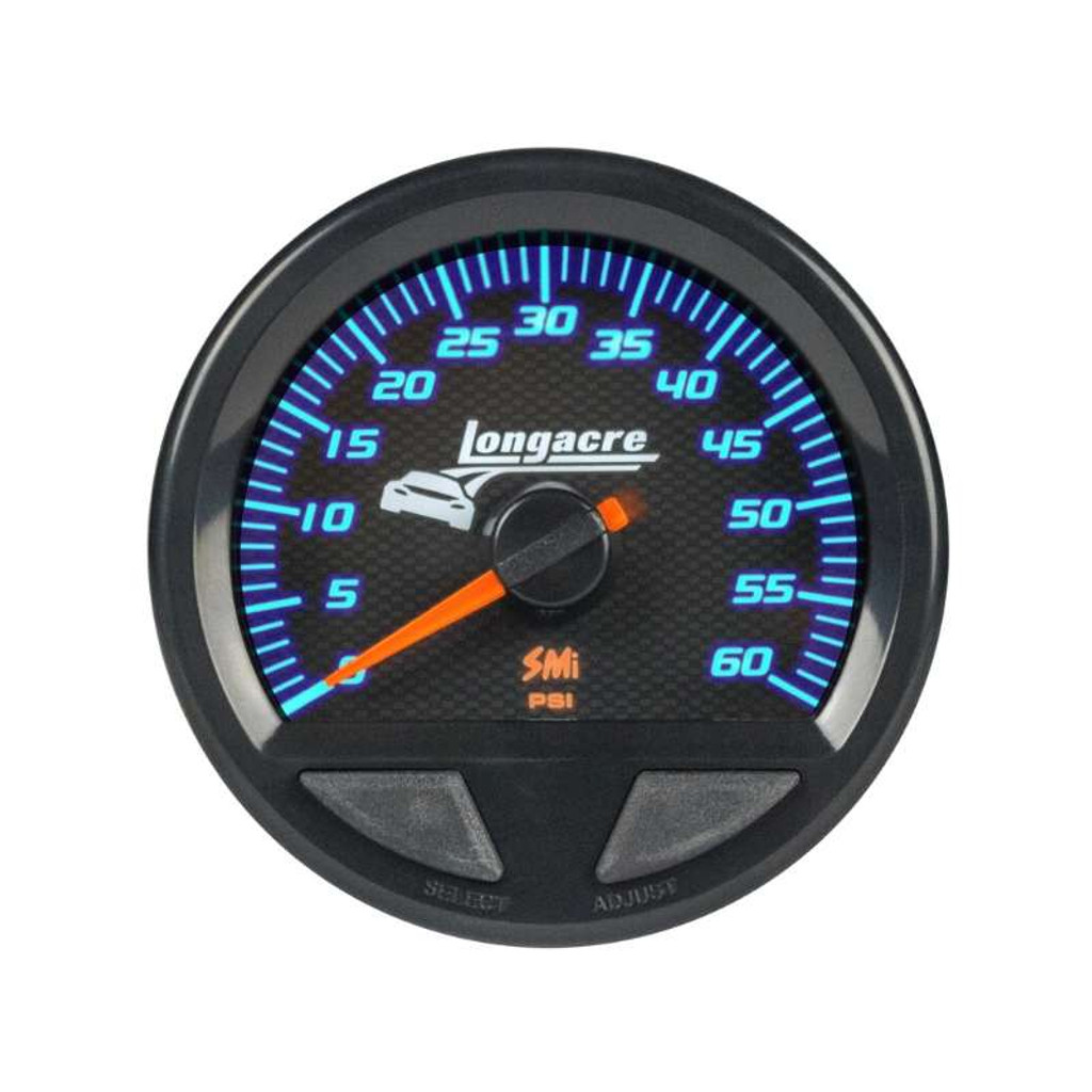 Longacre Waterproof Gauges, Water Pressure 0-60 psi, Sensor Included