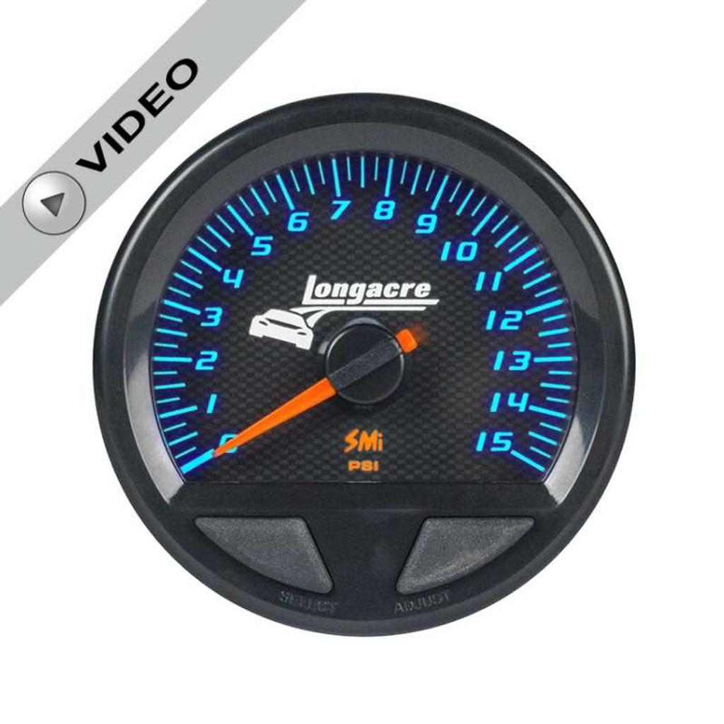 Longacre Waterproof Gauges, Fuel Pressure 0-15 psi