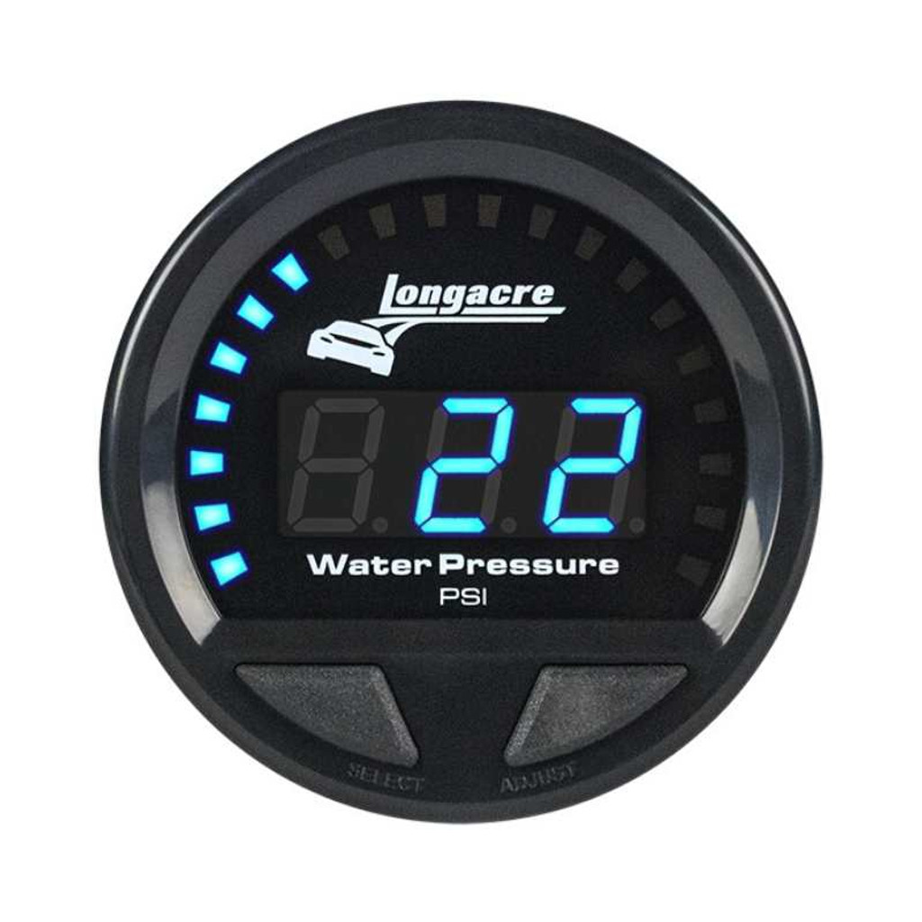Longacre Digital Elite Waterproof Gauges, Water Pressure 0-60 psi
