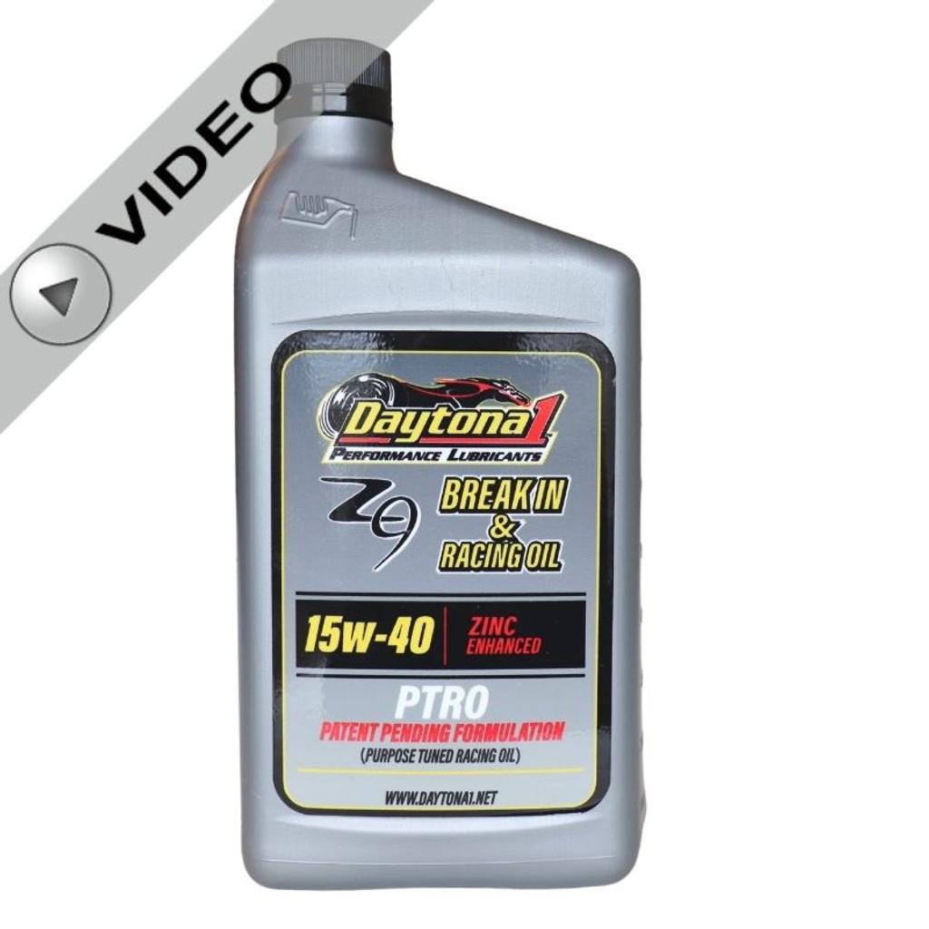 Daytona 1 PTRO Zinc Enhanced 15W-40 Break-In & Racing Oil Quart