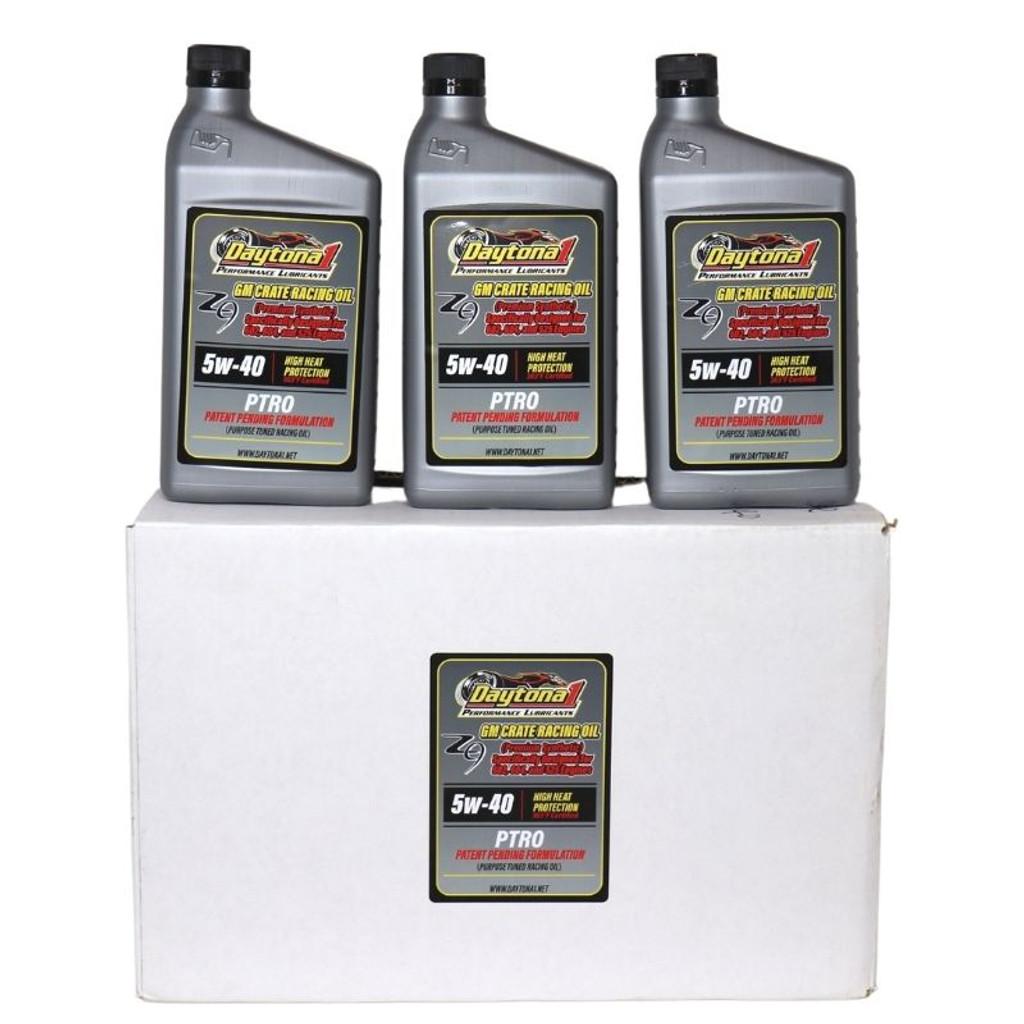 Daytona 1 PTRO 5W-40 Full-Synthetic Crate Racing Oil - Case (D1-PTRO-5W-40-CS)
