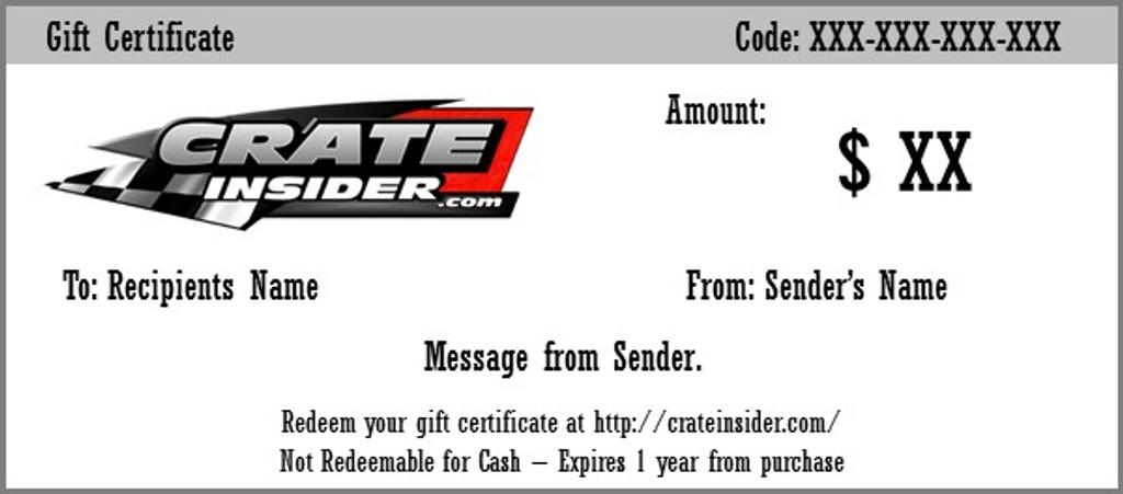 Crate Insider Gift Certificate