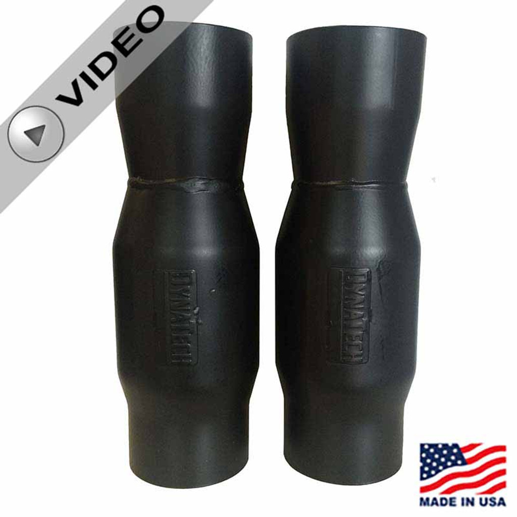 """Anti-Reversion Mufflers for CT525 -3.5"""" by Hendren Racing Engines/Dynatech (2) 772-06352)"""