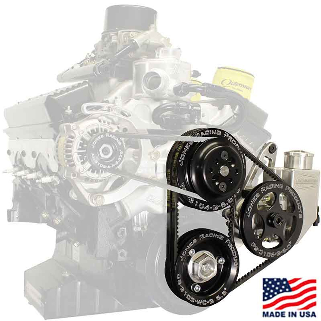 602 V-Belt Water Pump & Power Steering Pump Front Drive Kit (JRP-3004-AR-CE)