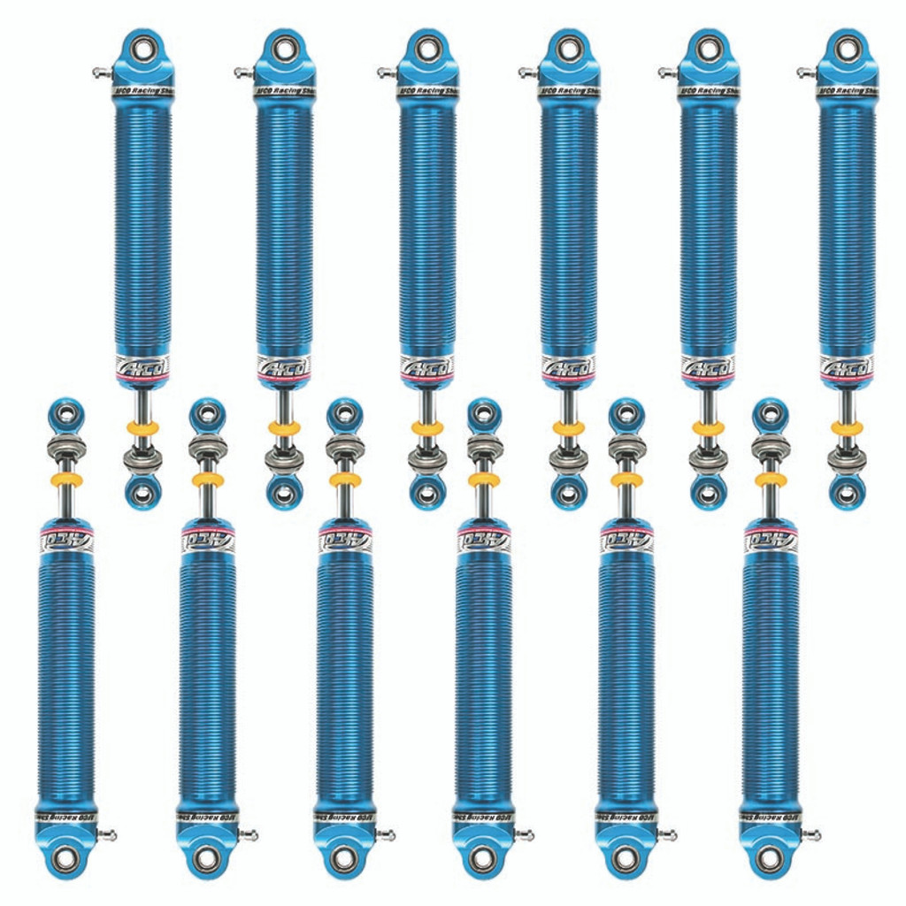 AFCO Dirt Late Model Aluminum Non-Adjustable Shock Package