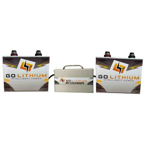 GO Lithium 16 Volt Lithium Racing Battery & Charger Package - Includes TWO GEN 2 Batteries and One High Speed Charger