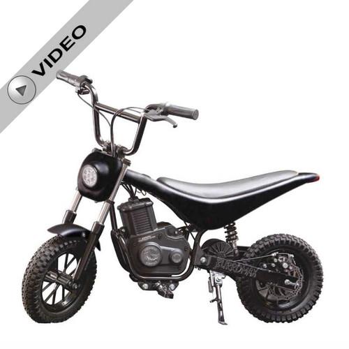 Electric Mini bike, TT350R Lithium Ion Powered, (Color: Matte Black Carbon Fiber)