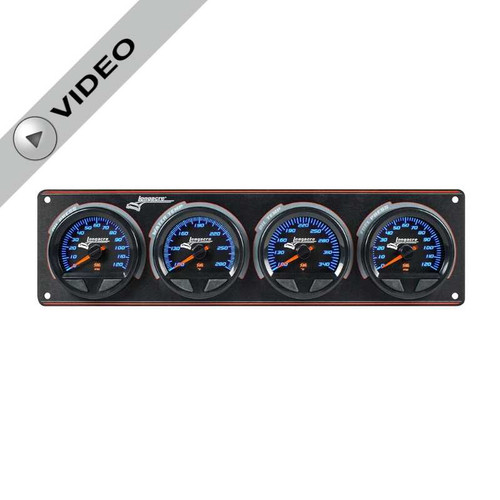 Longacre Waterproof Gauge Panel, 4 Gauge Oil Pressure/Water Temperature/Oil Temperature/Fuel Pressure