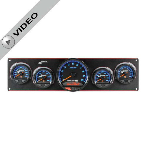 Longacre Waterproof Gauge Panel, 4 Gauge Oil Pressure/Water Temperature/Oil Temperature/Fuel Pressure-Firewall Mount Option