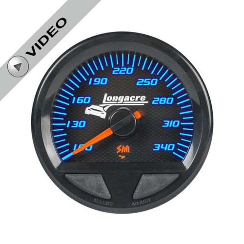 Longacre Waterproof Gauges, Oil Temperature/Water Temperature 100-340