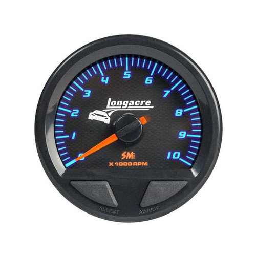 """Longacre Waterproof Tachometer 2-5/8"""" Face-Dial Read Out"""