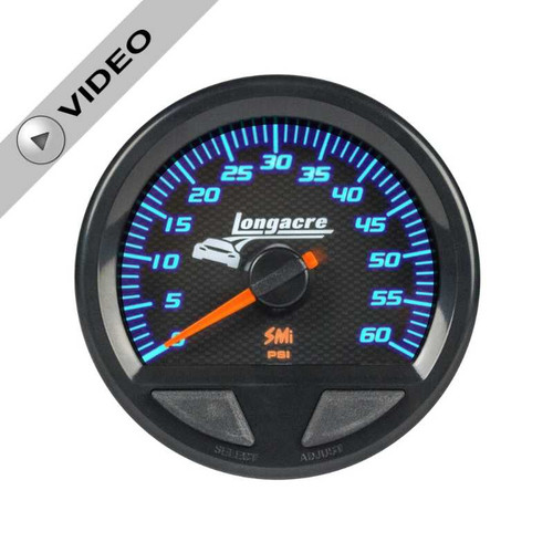 Longacre Waterproof Gauges, Water Pressure 0-60 psi, Sensor Included