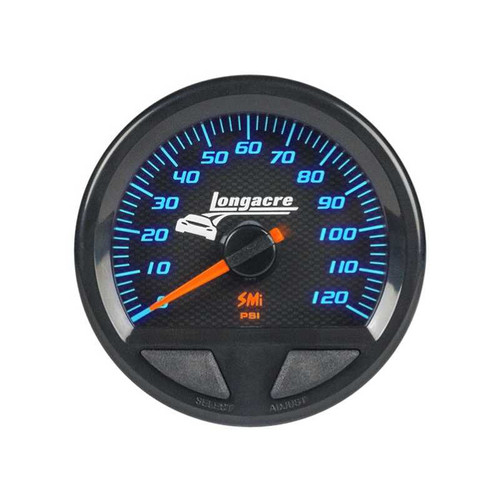 Longacre Waterproof Gauges, Oil Pressure 0-120 psi