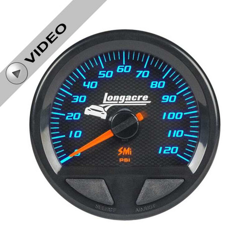 Longacre Waterproof Gauges, Fuel Pressure 0-120 psi