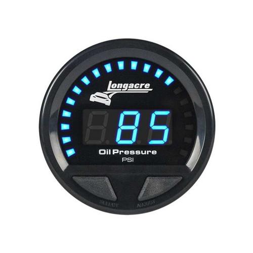 Longacre Waterproof Gauges, Oil Pressure 0-120 psi, Sensor Included-Firewall Mount