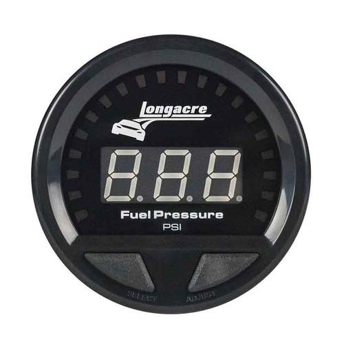 Longacre Waterproof Gauges, Fuel Pressure 0-15 psi, Sensor Included-Firewall Mount