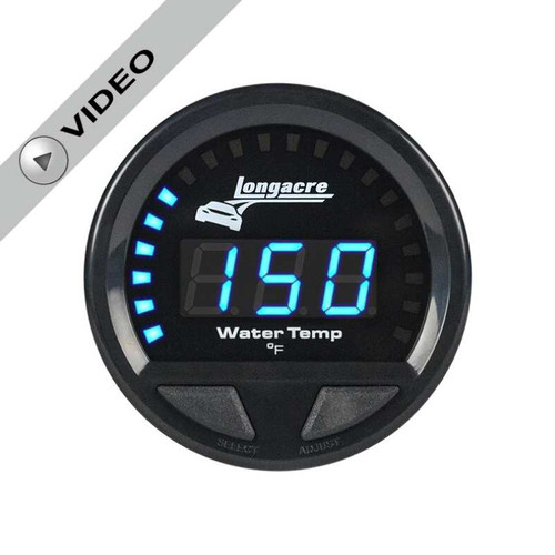 Longacre Waterproof Gauges, Water Temperature 100-280