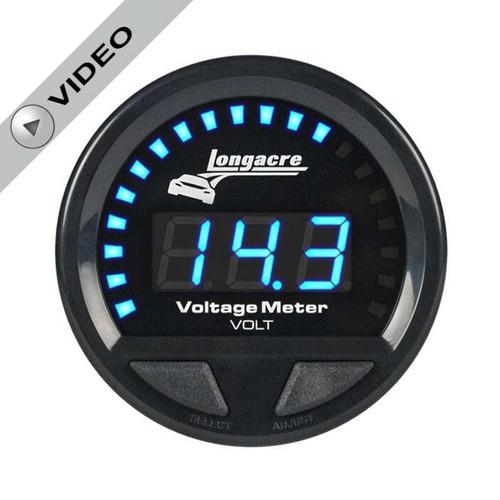 Longacre Waterproof Gauges, Volt Gauge 8-18, Sensor is Included
