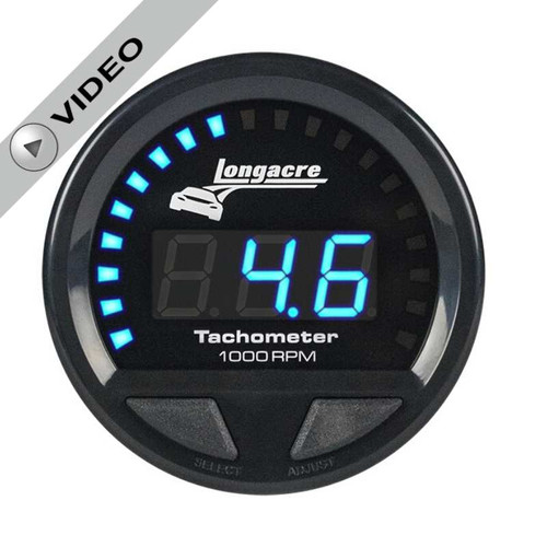 "Longacre Digital Elite Waterproof Tachometer 2-5/8"" Face-Digital Read Out"