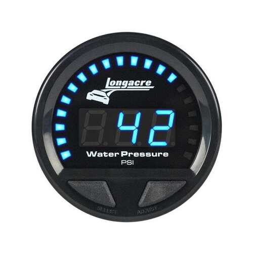 Longacre Digital Elite Waterproof Gauges, Water Pressure 0-60 psi