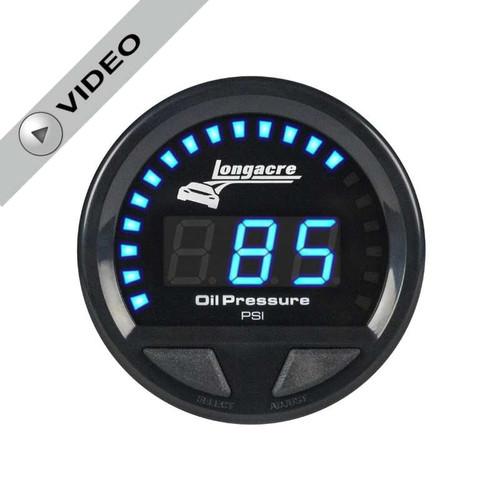 Longacre Digital Elite Waterproof Gauges, Oil Pressure 0-120 psi