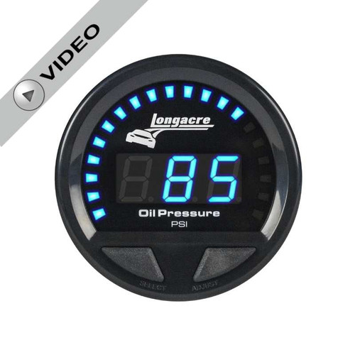 Longacre Digital Elite Waterproof Gauges, Oil Pressure 0-120 psi